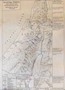 Palesztina térkép Jézus Krisztus megtestesülésének idején hitoktatás céjára