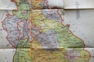Pest Megye régi térkép 1958