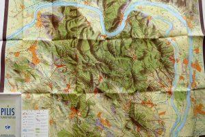 Pilis régi turista térkép 1956
