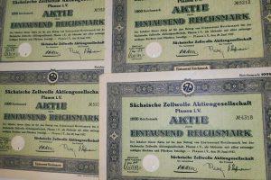 Sachsische Zellwolle Aktie 1937 német részvény