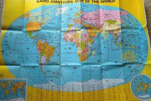 Világ rádióamatőr térkép