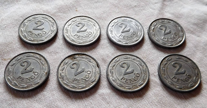 2 Pengő Magyar Királyság 1941 42 43 44 45 akció