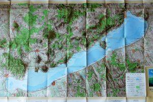 Balaton és környéke térkép 1958