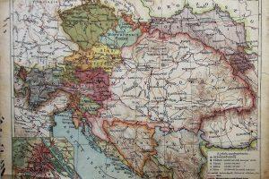 Magyarország és Ausztria Politikai térkép 1909