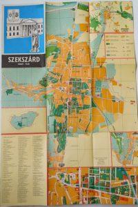 Szekszárd térkép 1989