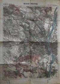 Budai Hegyek térkép 1900-as évek