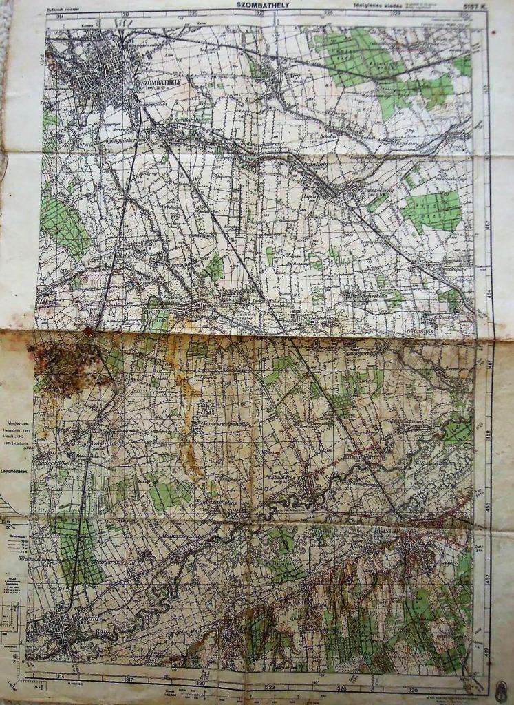 Szombathely és Körmend környéke régi térkép 1943