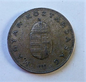 100 forint fémpénz 1995 Magyar Népköztársaság