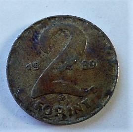 2 forint fémpénz 1989 Magyar Népköztársaság