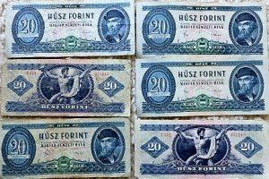 20 Forint papírpénz 1980