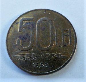 50 Lei 1993 fémpénz Románia