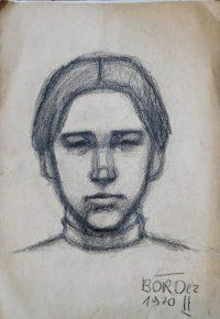 Böröcz Portré grafika