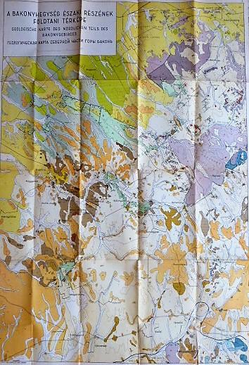 Bakony Északi Részének Földtani térkép 1950