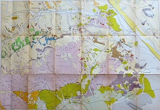 Bakony Várpalota Bodajk talaj térkép 1950