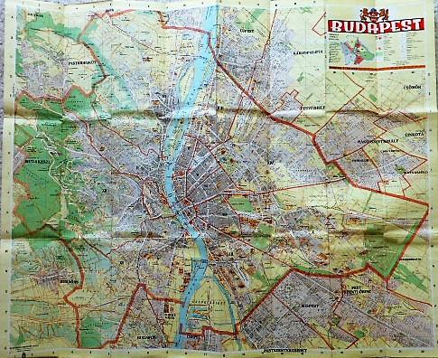 Budapest térkép 1930-as évek