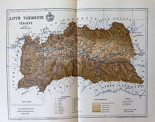 Liptó Vármegye Térkép 1895