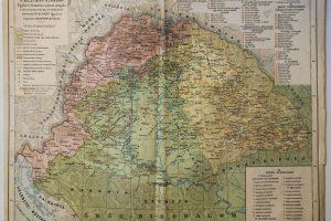 Magyarország 1606 Bécsi Béke korában régi térkép
