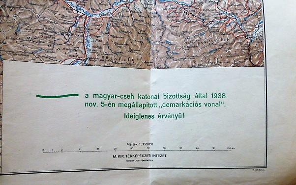Magyarország Bécsi döntés után térkép 1938