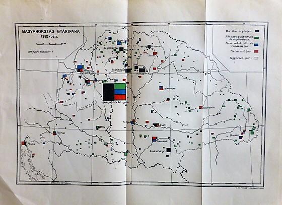 Magyarország Gyáripara 1910-ben térkép