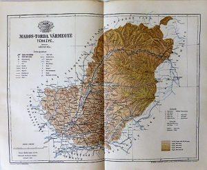 Maros-Torda Vármegye térkép 1895