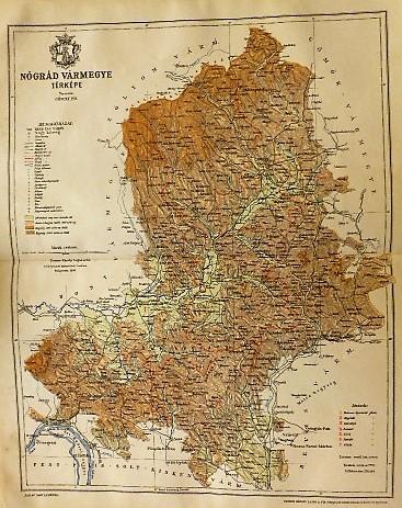 Nógrád Vármegye Térkép 1896