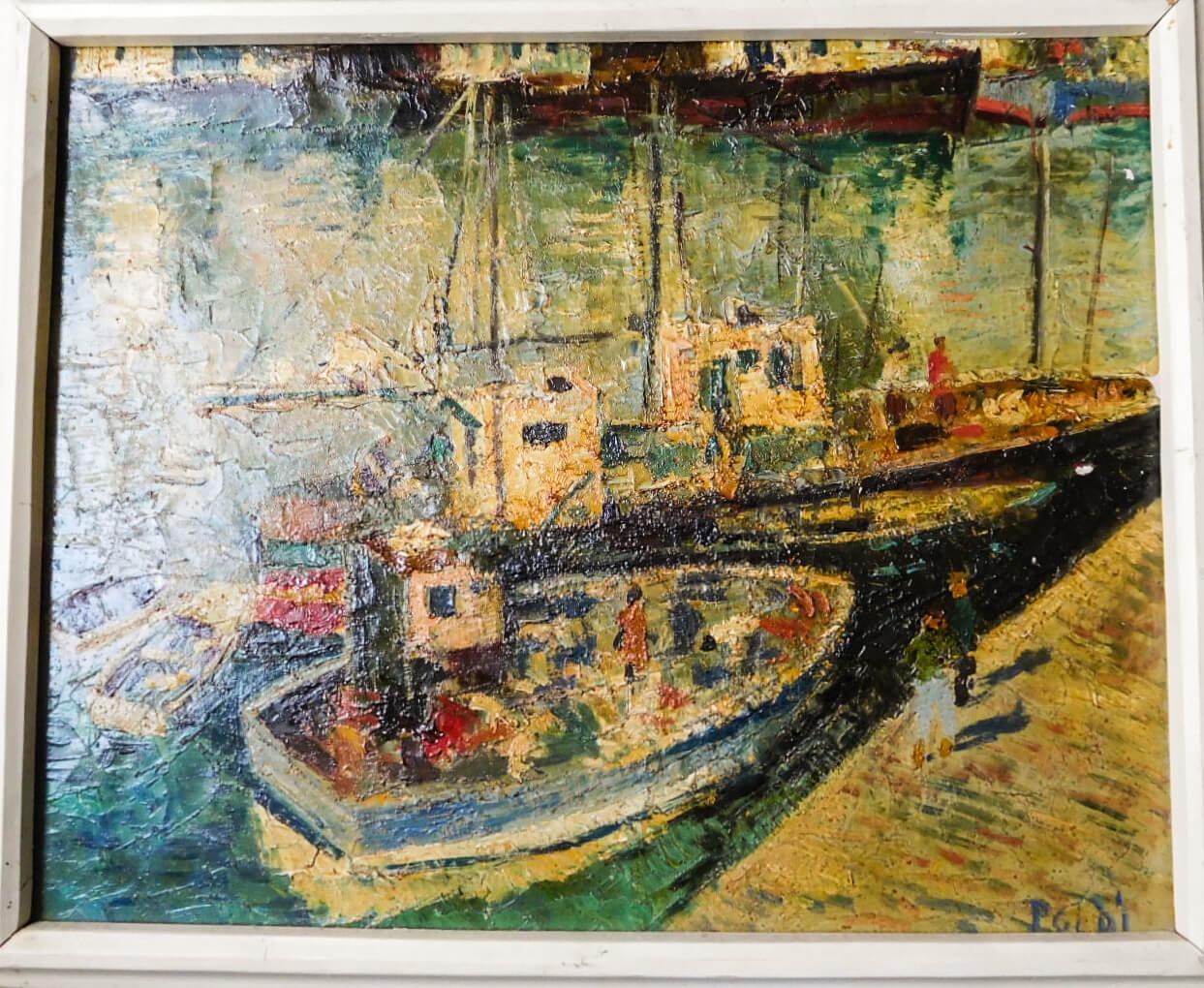 Poldi Kikötöben festmény