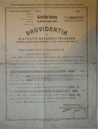Providentia Biztosító régi kötvény 1930