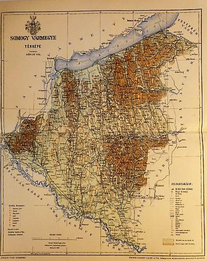 Somogy Vármegye Térkép 1897,