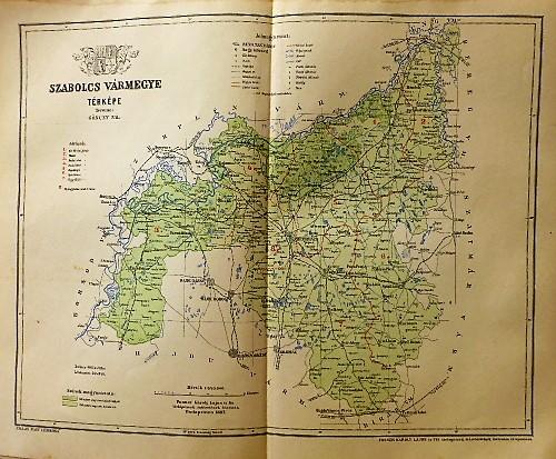 Szabolcs Vármegye Térkép 1897