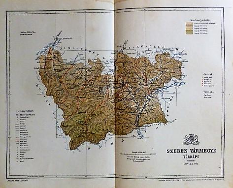 Szeben Vármegye Térkép 1897