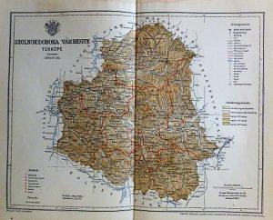 Szolnok-Doboka Vármegye Térkép 1897