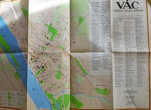 Vác Térkép 1958