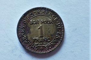 1 Frank 1923 Franciaország fémpénz