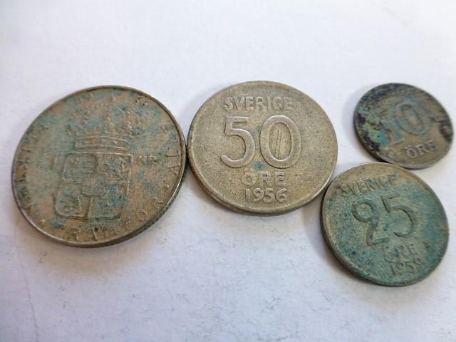 1 korona öre ezüst fémpénz Svédország