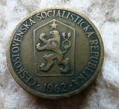 1 Korona 1962 fémpénz Csehszlovákia