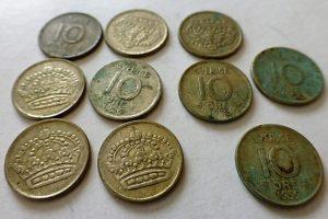 10 Öre ezüst pénzérme 1953-1961 Svédország