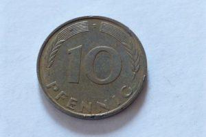 10 Pfennig 1993 fémpénz Németország