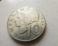10 Schilling 1958 ezüst fémpénz Ausztria