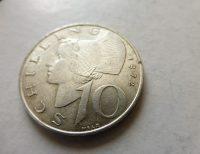 10 Schilling 1972 ezüst fémpénz Ausztria
