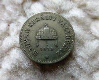 10 fillér 1915 Magyar Királyság fémpénz