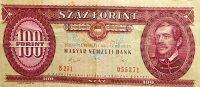 100 Forint 1989 papírpénz