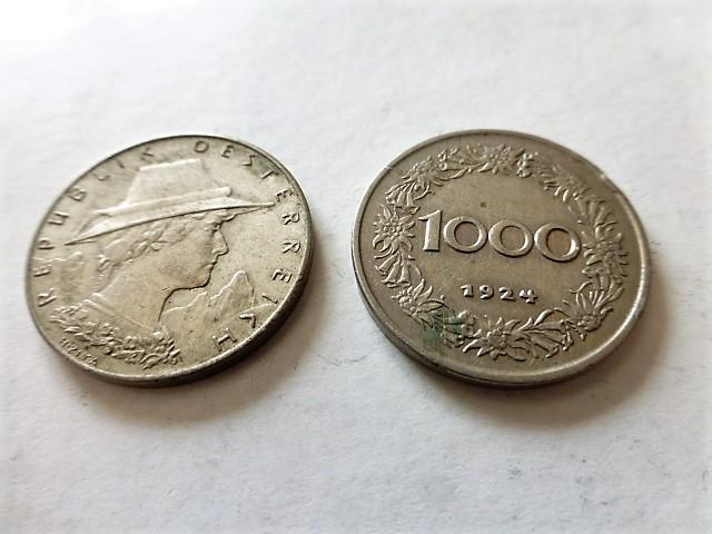 1000 Korona 1924 Ausztria