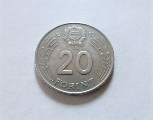 20 Forint 1983 fémpénz Magyar Népköztársaság