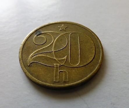 20 Haller 1978 fémpénz érme Csehszlovákia