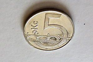 5 Korona Cseh Köztársaság fémpénz 2008
