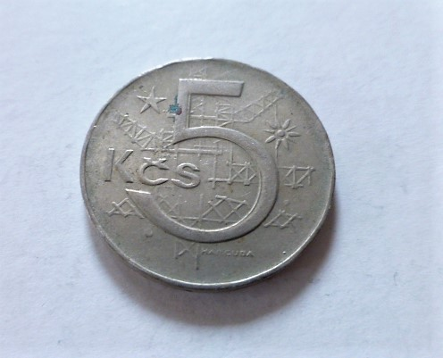 5 Korona fémpénz Csehszlovákia 1983