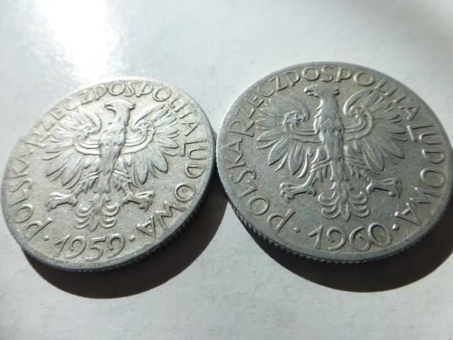 5 Zloty fémpénz érme Lengyelország 1959 1960