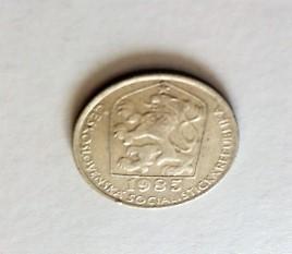 50 Heller 1985 fémpénz Csehszlovákia