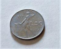 50 Lira olasz fémpénz 1969 30 Ft