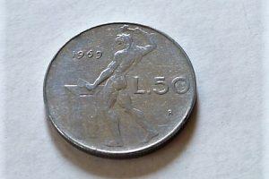 50 Lira olasz fémpénz 1969